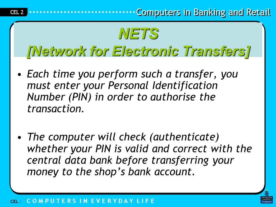 NETS [Network for Electronic Transfers]